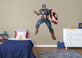 captain america avengers assemble wall decal shop fathead for