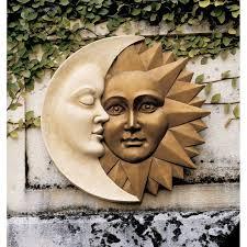 Sun Wall Decor Outdoor Design Toscano Celestial Harmony Sun And Moon Wall Sculpture