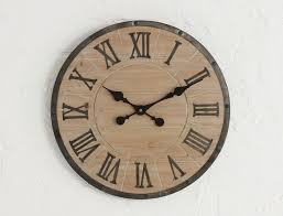 natural wooden clock natural