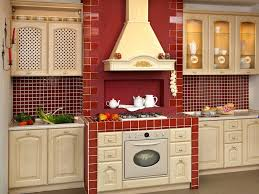 kitchen design old red country kitchen design with red kitchen