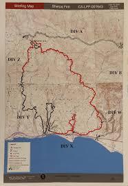 Santa Barbara Map Sherpa Fire Hundreds Of Structures Threatened As Santa Barbara
