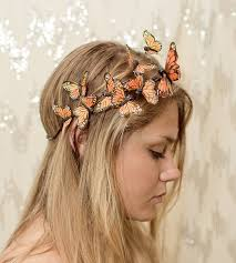 Monarch Butterfly Halloween Costume Orange Monarch Butterfly Crown Princess Fairy Forest