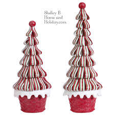 Raz Imports Halloween Decorations Christmas Ribbon Candy Trees Shelley B Home And Holiday