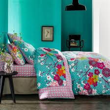 deco chambre turquoise décoration chambre naturelle ou tropicale tête de lit