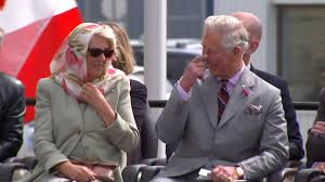 prince charles and camilla in stitches during canadian throat