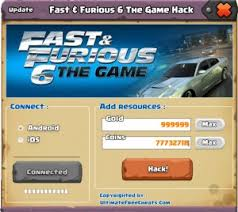 fast and furious online game fast and furious 6 the game hack cheats tool v4 2 3 online 2017 tool