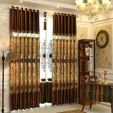 Living Room Drapes Ideas Embroidered Country Style Blackout Curtain For Living Room For