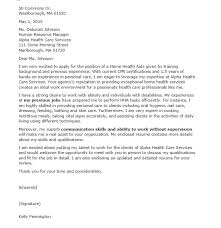 amazing sample cover letter for health care aide 16 for your