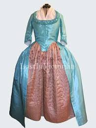 historical 18th century colonial era dress gown reenactment