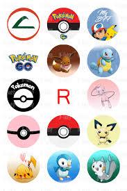 bottle cap necklaces wholesale 1 inch circles of pokemon bottle cap images instant download
