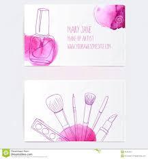 Makeup Business Cards Designs Make Up Artist Business Card Template Stock Illustration Image