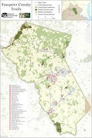 Appalachian Trail Virginia Map by Town Trail Maps Fauquier Trails Coalition