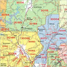 ga zip code map atlanta zip code wall maps aero surveys of