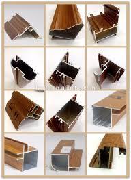 powder coating wood aluminum kitchen cabinet frame section profile