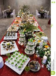 cocktail party with variety of desserts and food decorated in sp