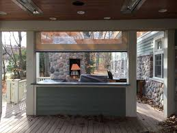 custom outdoor kitchen and pizza oven