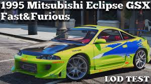 mitsubishi eclipse 1995 custom gta v pc mods 1995 mitsubishi eclipse gsx the fast and the