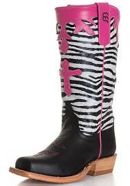 s bean boots size 9 bean kid s zebra top with cross cowboy boots black