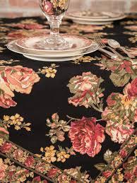 victorian rose tablecloth linens u0026 kitchen tablecloths