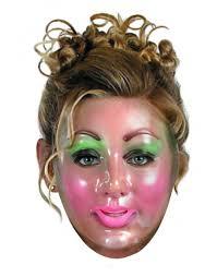 transparent male face mask 39818 fancy dress ball catcher clown