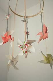 suspension origami diy mobile bébé à faire soi même en papier u2013 idées et instructions