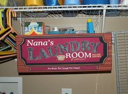 Signage For Comfort Rooms Personalized Laundry Room Sign