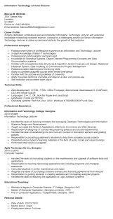 Resume Computer Science Examples by Fascinating Resume Samples For Lecturer In Computer Science 56 In