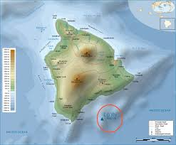 United States Map With Hawaii by Large Detailed Physical Map Of Big Island Of Hawaii With Roads