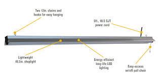 keystone 4 led shop light 5000 lumens keystone lighting keystone kt led48hid v e26 850 s 175w m57 or 175w