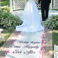 wedding runners wedding footpath and table cover with wedding runner