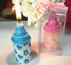 baby bottle candles it s a boy baby shower decoration kits small size blue baby bottle