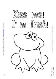 patrick u0027s coloring 117 cute frog kiss u0027m irish