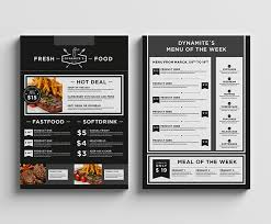 food u0026 restaurant menu design on behance