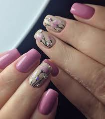 60 nail art examples for spring purple flower and spring