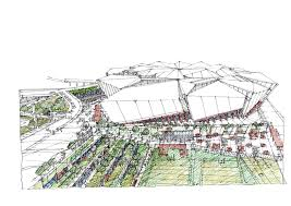 360 architecture covers new atlanta stadium with 8 sided operable roof