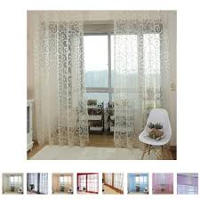 Curtains Floral Aliexpress Com Buy White Curtains Floral Tulle Voile Cortinas