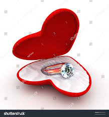 wedding ring in a box wedding ring heartshaped box open stock illustration