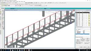 pedestrian steel bridge design by staad pro part no 01 youtube