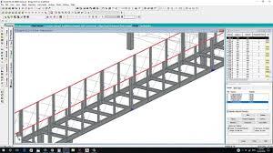 pedestrian steel bridge design by staad pro part no 01 youtube