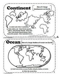 map skills worksheet education pinterest map skills