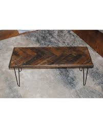 Hairpin Legs Coffee Table Don T Miss This Bargain Herringbone Coffee Table With Hairpin