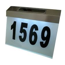 Lighted House Number Sign Modern Illuminated House Numbers U2013 Modern House