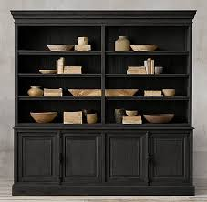 restoration hardware china cabinet french panel 4 door sideboard open hutch home pinterest