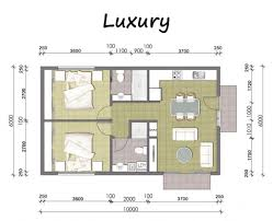 plan of 1bed room flat home design