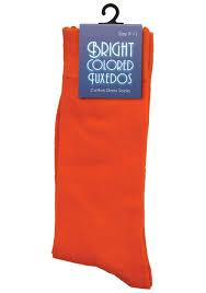 Tuxedo Socks Orange Dress Socks