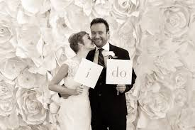 wedding photo booth backdrop on trend paper wall flowers wed on canvas live event and