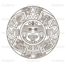 Aztec Calendar Coloring Page aztec calendar coloring page books worth reading