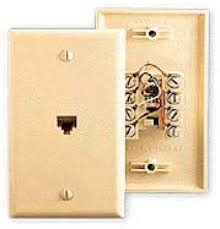 rca tp6247 wall plate phone jack ivory 6 wire 6p6c rj12 conductor
