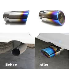 lexus ct200h exhaust system slant burnt blue titanium car stainless steel exhaust tail pipes