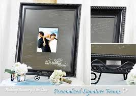 signable wedding platters personalised wedding signature frame silver with white mount